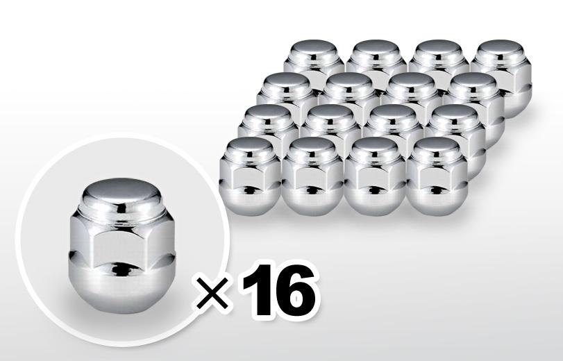 球面座 ショート(24mm) クロム ホイールナット M12×P1.5 19HEX 16本