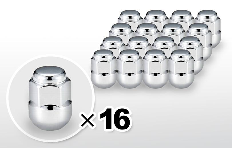 球面座 ロング(30mm) クロム ホイールナット M12×P1.5 19HEX 16本