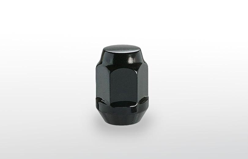 60°テーパー座 ロング(31mm) ブラック ホイールナット M12×P1.5 19HEX