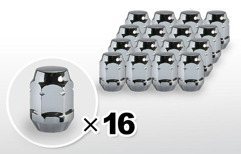 60°テーパー座 ロング(31mm) クロム ホイールナット M12×P1.25 19HEX 16本