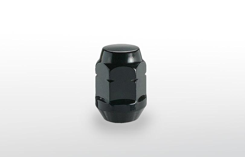 60°テーパー座 ロング(31mm) ブラック ホイールナット M12×P1.25 19HEX