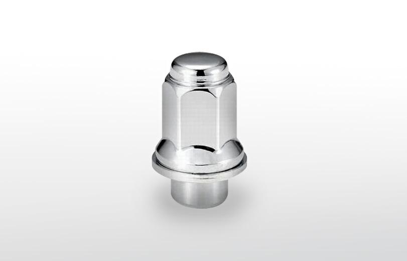 平面座 ロング(47mm) クロム ホイールナット M12×P1.5 21HEX
