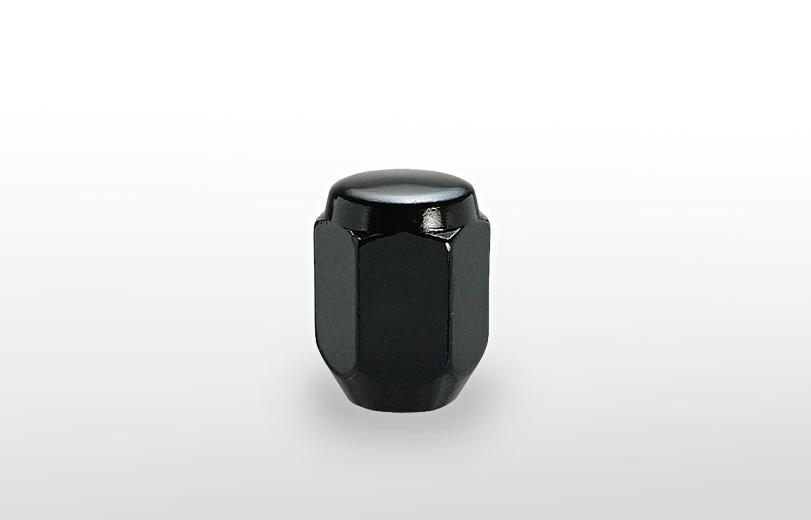 60°テーパー座 ロング(31mm) ブラック ホイールナット M12×P1.5 21HEX