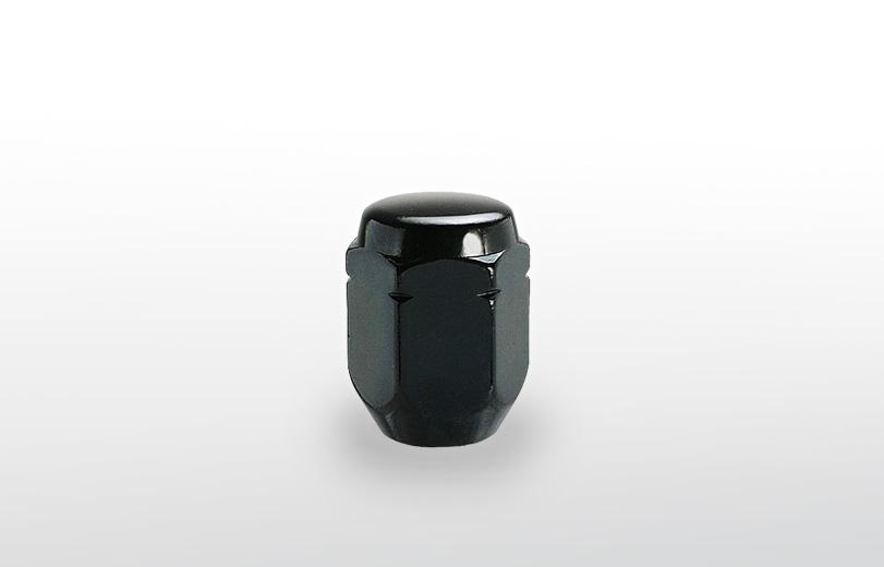 60°テーパー座 ロング(31mm) ブラック ホイールナット M12×P1.25 21HEX