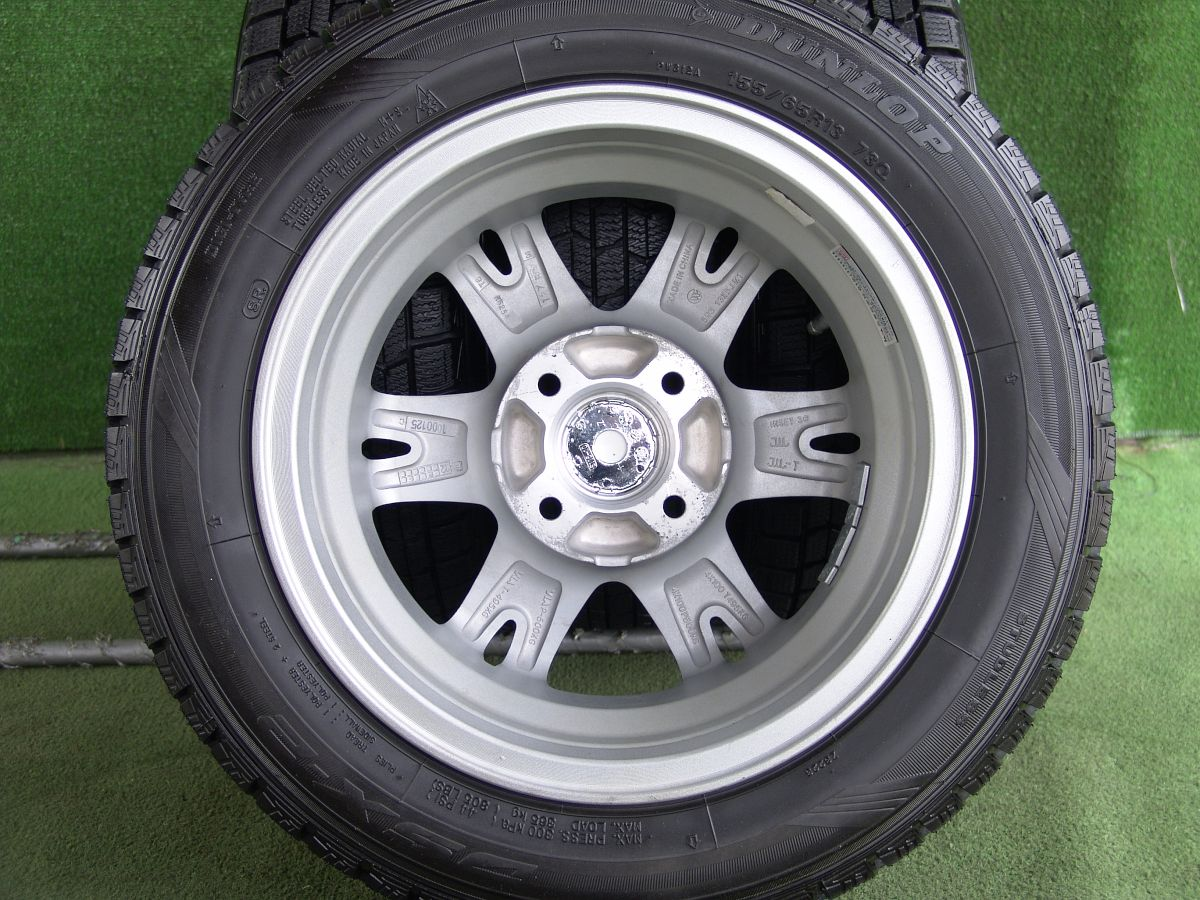 HOT STUFF Exceeder EX6 シルバー DUNLOP DSX-2 155/65R13 4本SET
