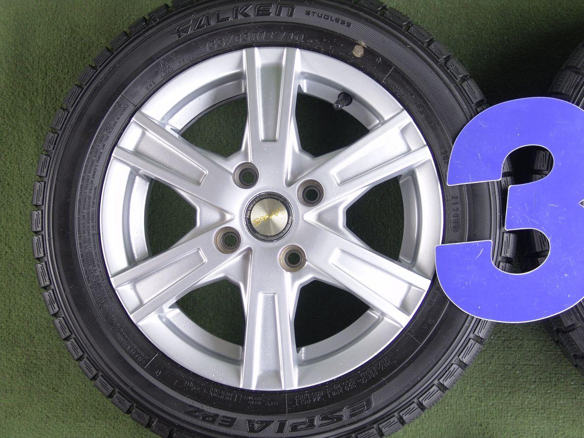 SPORT シルバー FALKEN ESPIA EPZ 155/65R13 4本SET