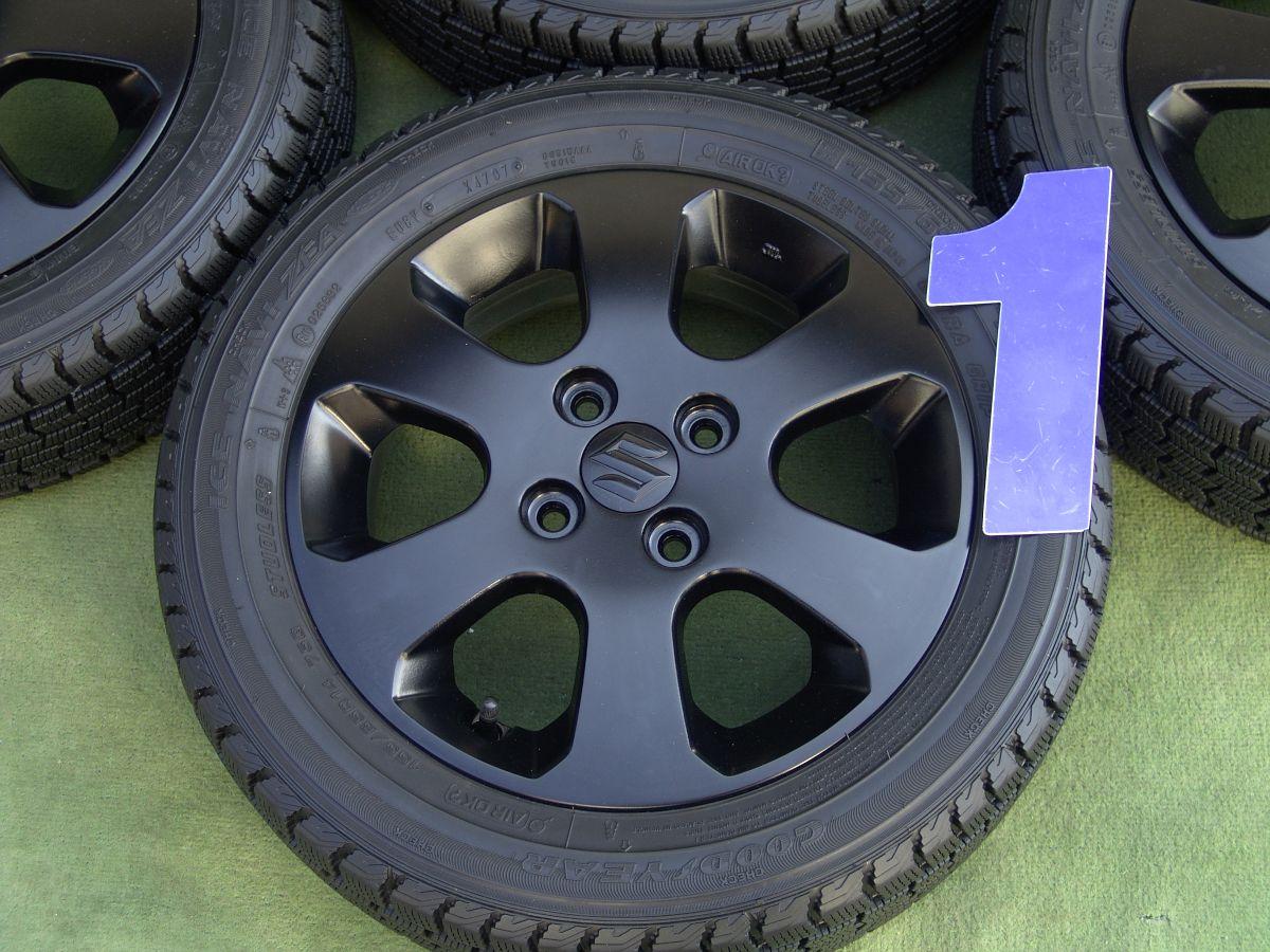 SUZUKI ワゴンR 純正 マットブラック GOODYEAR ICENAVI ZEA 155/65R14 4本SET