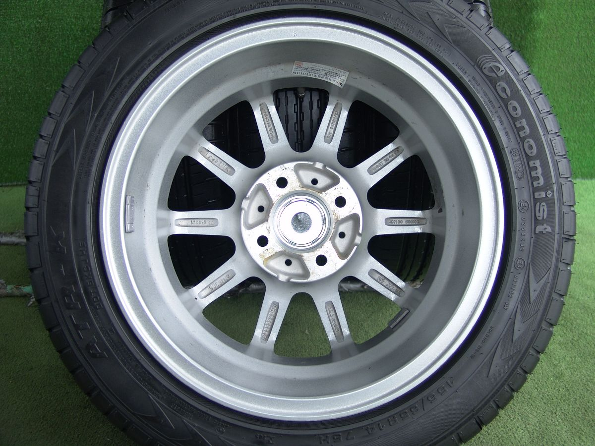 HOT STUFF WAREN WR10 ダークシルバー ATR-K ecomomist 155/65R14 4本SET