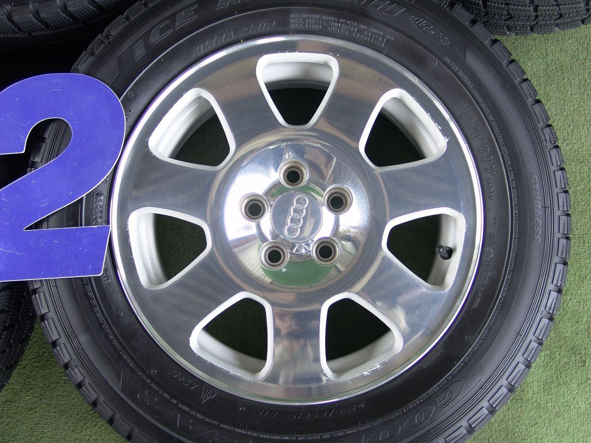 AUDI A3 純正 シルバー&ポリッシュ GOODYEAR ICENAVI NH 195/65R15 4本SET