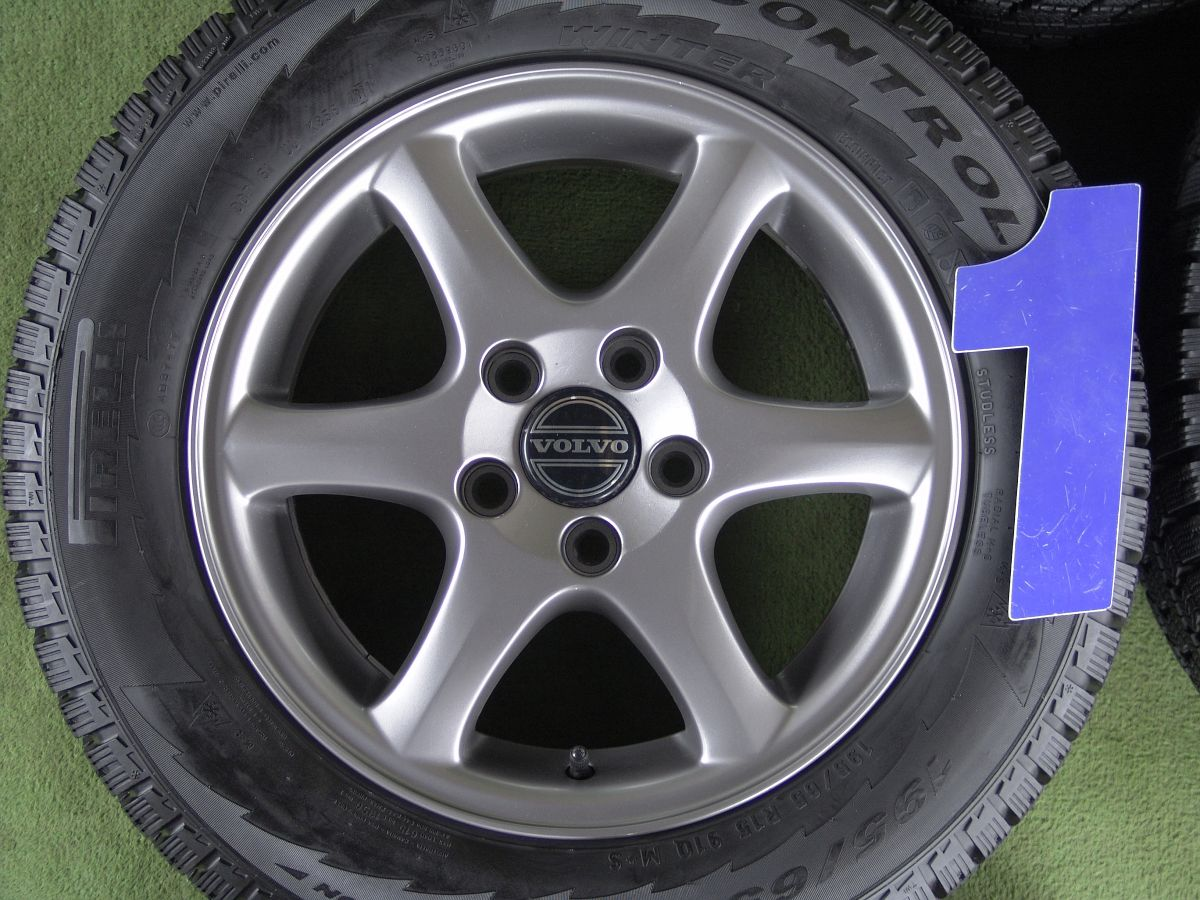 VOLVO V70 純正 ガンメタ PIRELLI WINTER ICECONTROL 195/65R15 4本SET