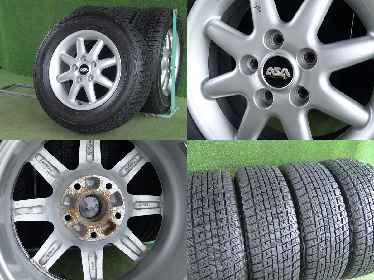 ASA LICENSED BY BBS シルバー GOODYEAR ICENAVI NH 205/65R15 4本SET