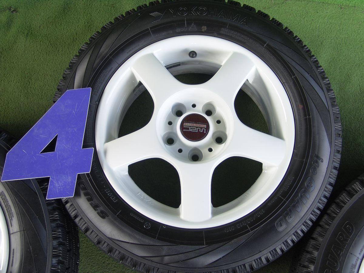 BWA Racing ホワイト YOKOHAMA iceGUARD IG10 195/65R15 4本SET