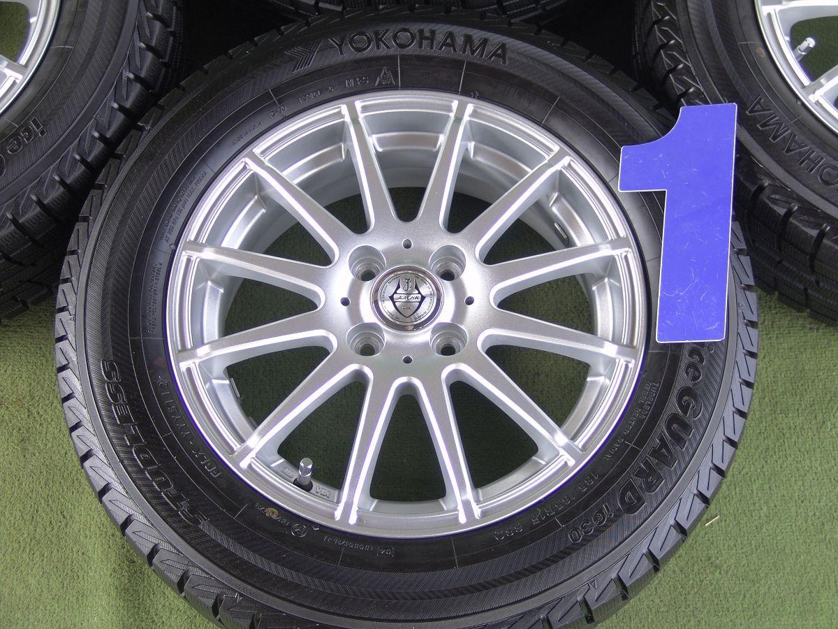 WEDS JOKER MASTER2 シルバー YOKOHAMA iceGUARD iG30 185/65R15 4本SET
