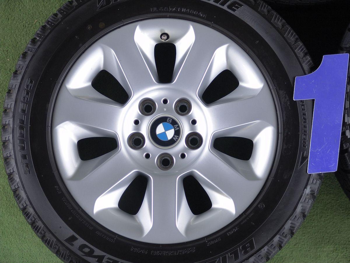 BMW 5シリーズ 純正 Star spoke styling 115 シルバー BRIDGESTONE BLIZZAK REVO1 225/55R16 4本SET