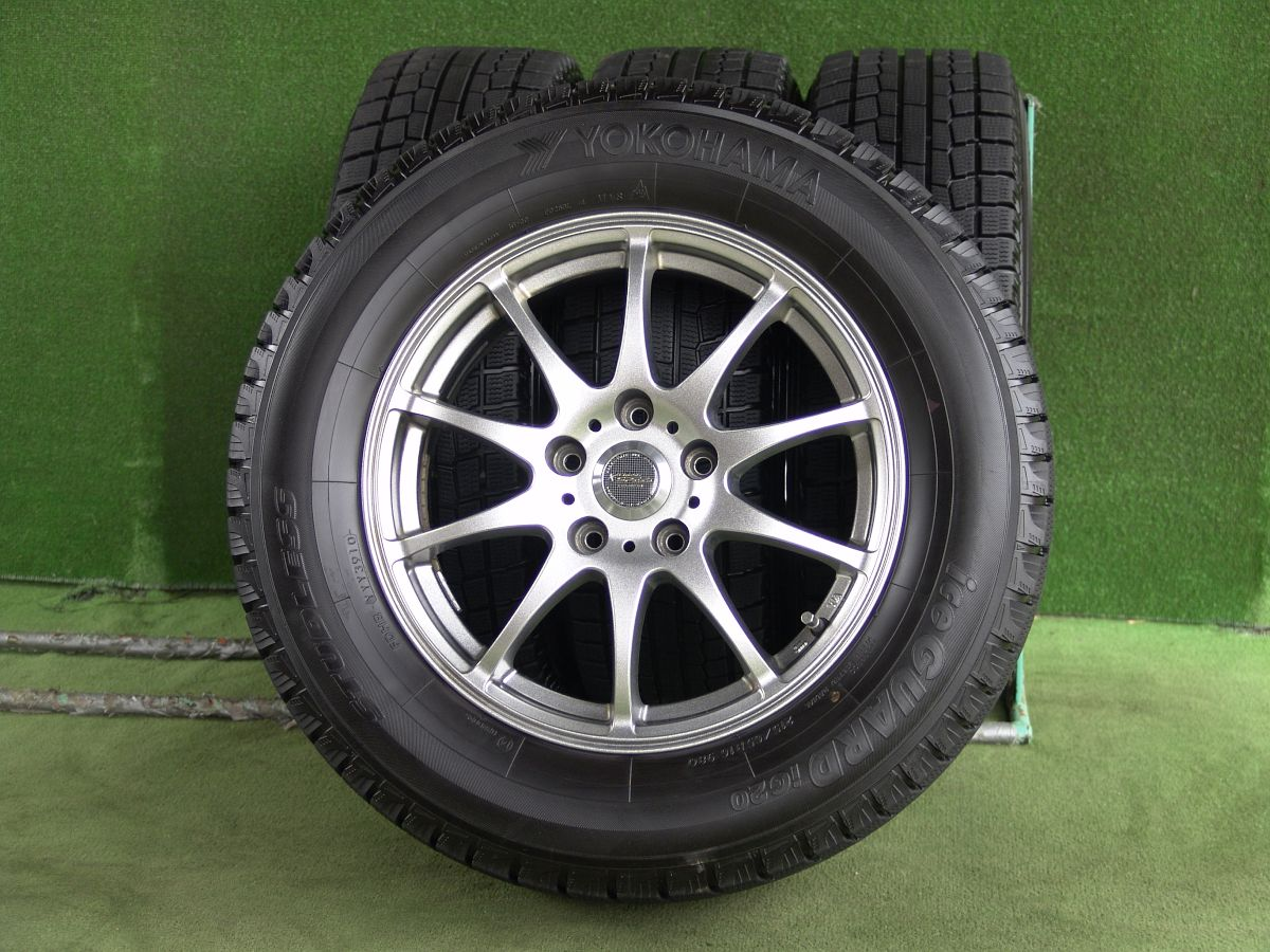 HOT STUFF CROSS SPEED PREMIUM-10 ダークシルバー YOKOHAMA iceGUARD iG20 215/65R16 4本SET