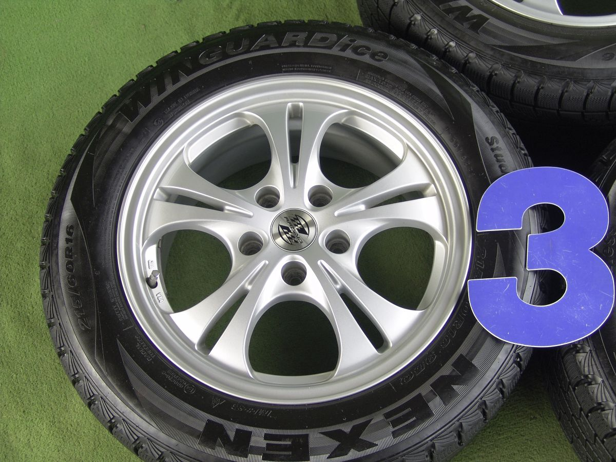 RACING シルバー NEXEN WINGUARD ICE 215/60R16 4本SET