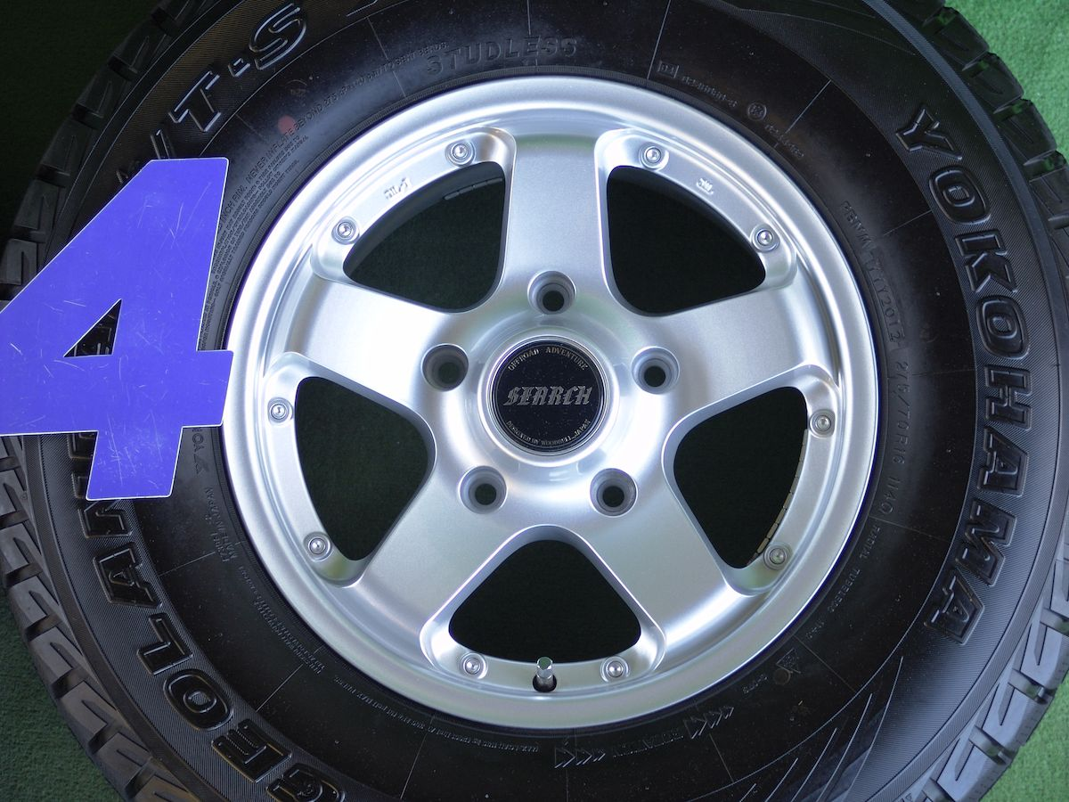 WOODBELL SEARCH LC100/200 シルバー YOKOHAMA GEOLANDAR i/T-S G-073 275/70R16 4本SET