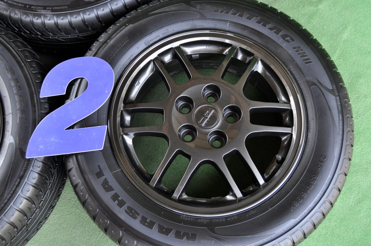 MITSUBISHI OZ RACING F-1 ガンメタ MARSHAL MATRAC MH11 215/65R16 4本SET