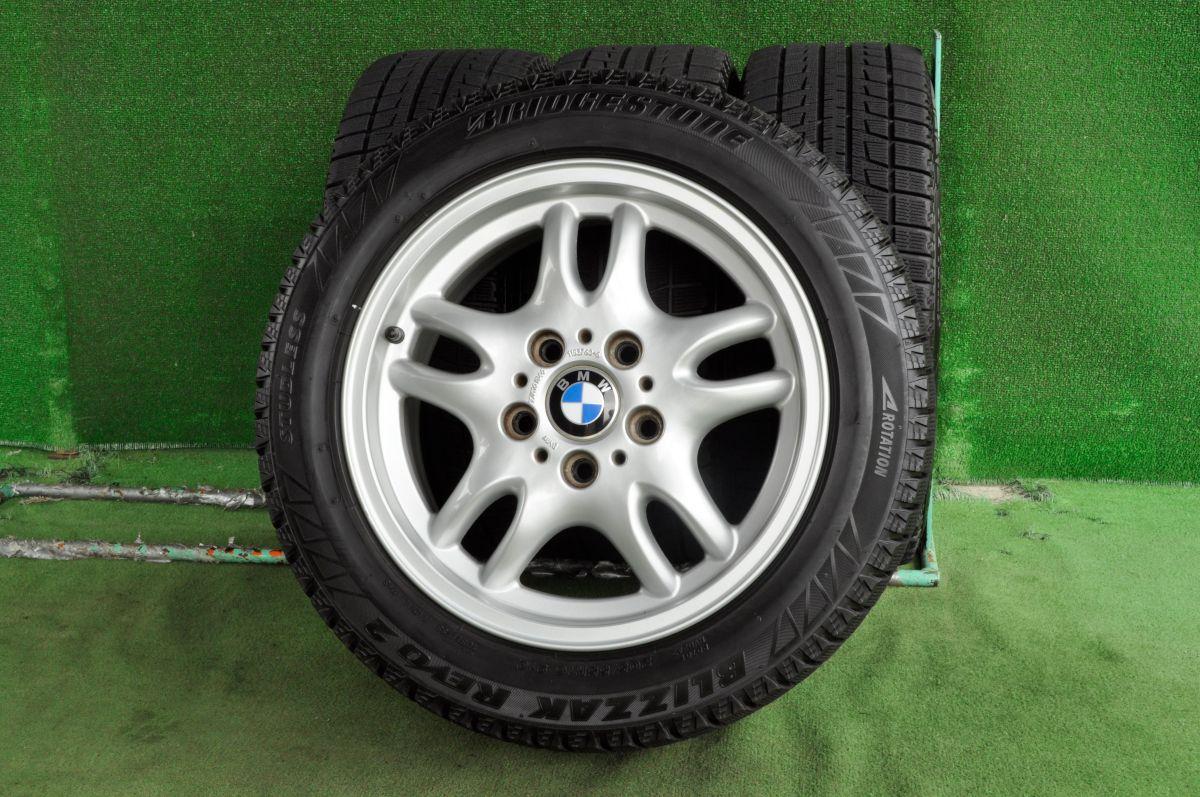 BMW 3シリーズ 純正 シルバー BRIDGESTONE BLIZZAK REVO2 205/55R16 4本SET