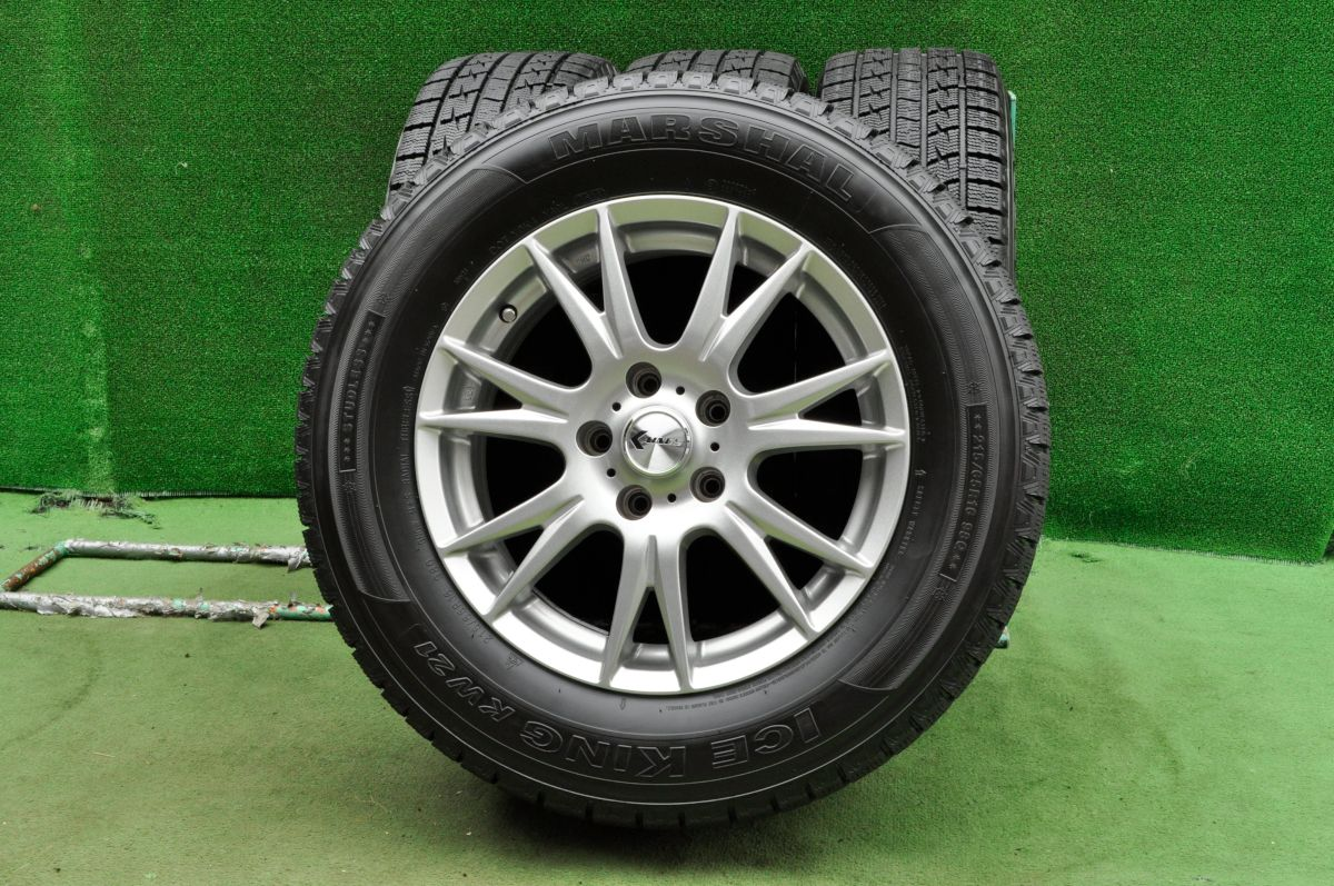KAINOS RIDGE ダークシルバー MARSHAL ICE KING KW21 215/65R16 4本SET