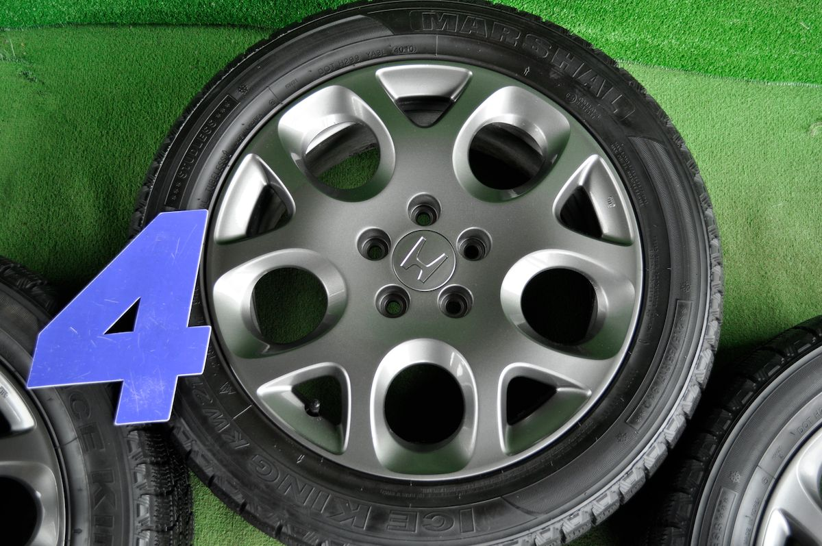 HONDA CR-V 純正 ガンメタ KUMHO ICE KING KW21 215/55R17 4本SET