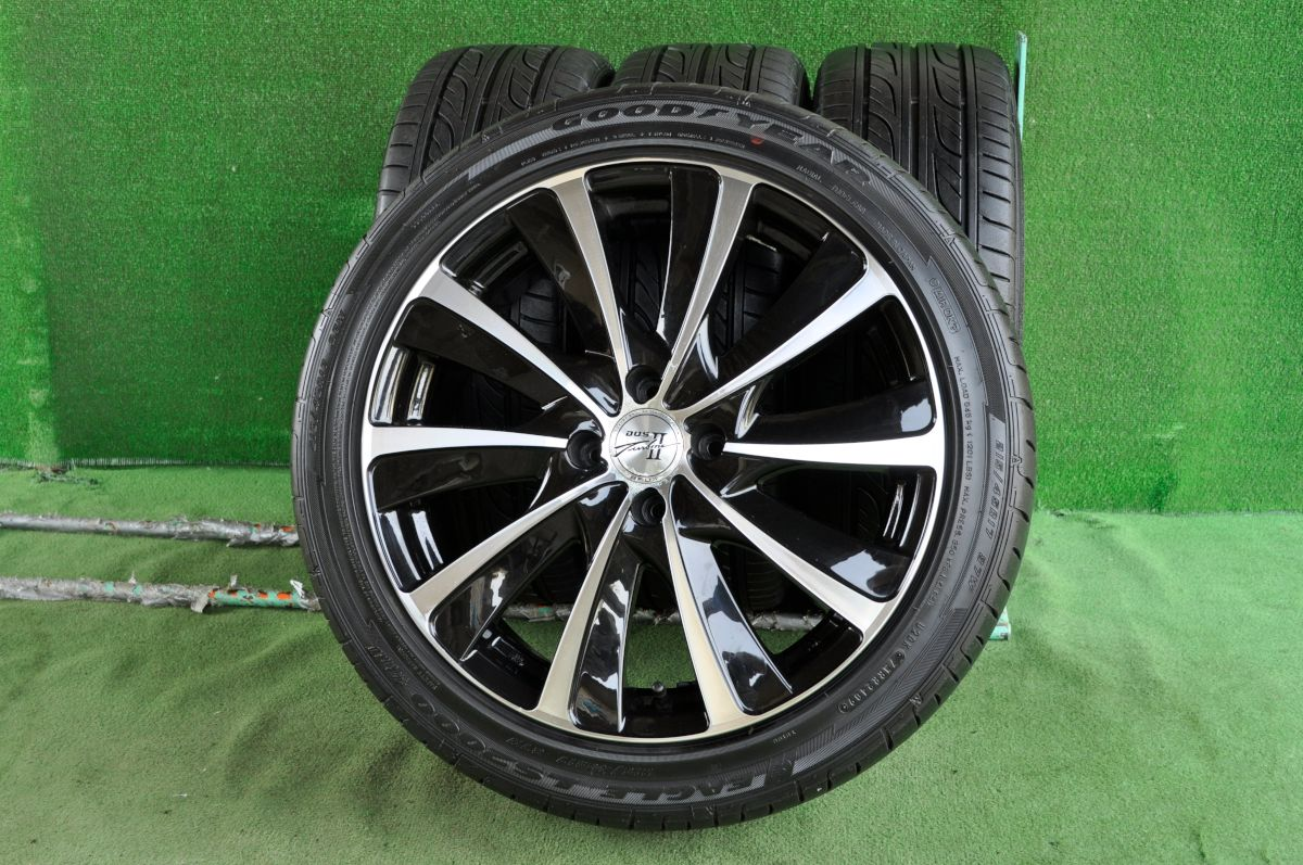 BADX D.O.S. TURBINE2 ブラック&ポリッシュ GOODYEAR EAGLE LS2000 hybrid2 215/45R17 4本SET