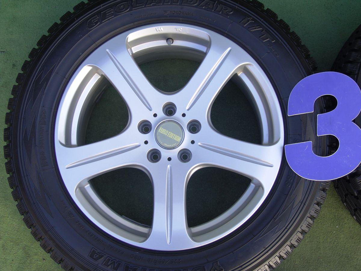 MANARAY SPORT EUROEDITION STYLE N5 シルバー YOKOHAMA GEOLANDAR i/T G-072 225/65R18 4本SET