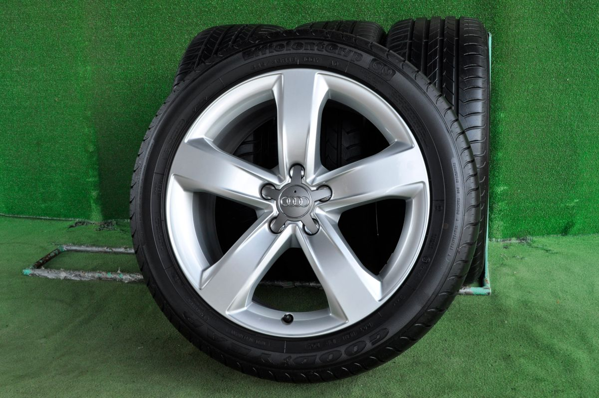 AUDI A6 純正 シルバー GOODYEAR EfficientGr/p 245/45R18 4本SET