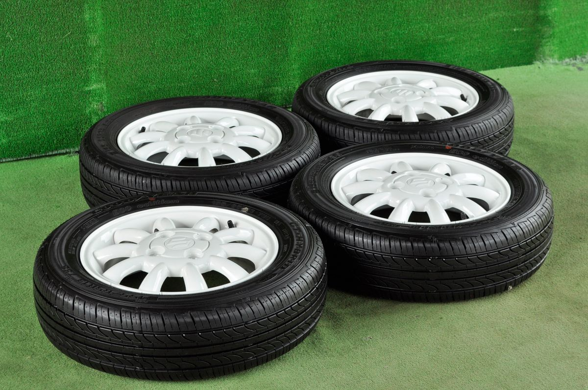 SUZUKI ラパン 純正 ホワイト GOODYEAR GT-HYBRID ECO edition 155/65R13 4本SET
