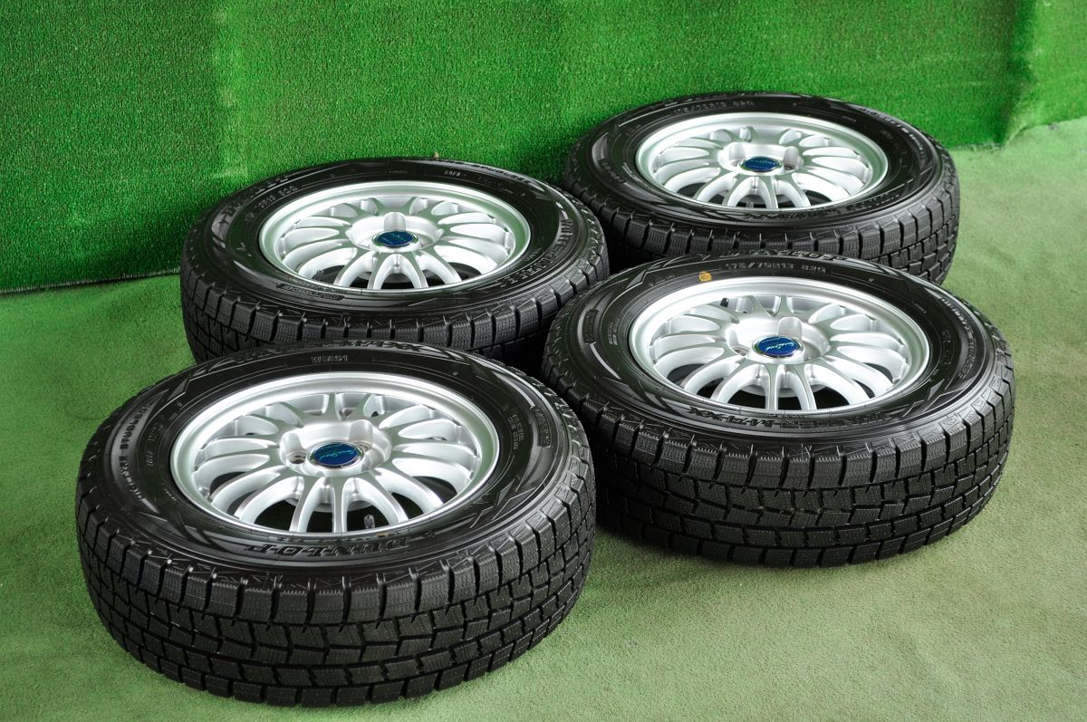 MANARAY SPORT EUROSPEED BC PREMIUM LIGHT シルバー DUNLOP WINTER MAXX WM01 175/70R13 4本SET