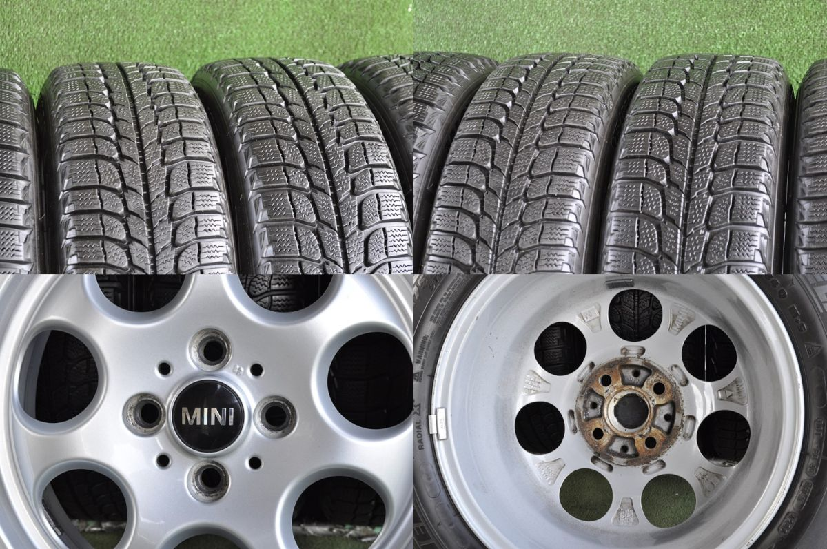 BMW MINI 純正 シルバー MICHELIN X-ICE 175/65R15 4本SET
