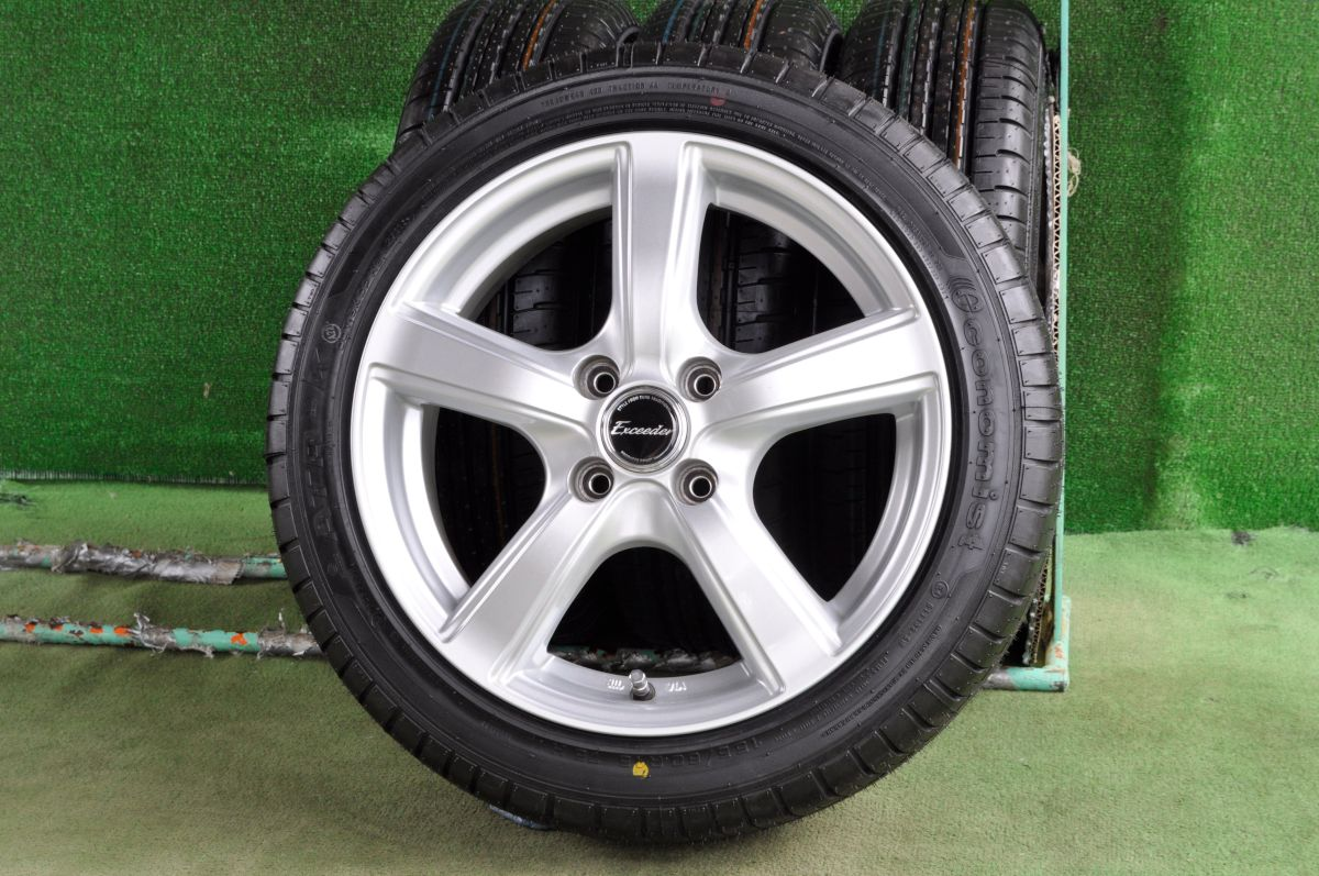 HOT STUFF Exceeder EXV シルバー ATR SPORT Economist ATR-K 155/60R15 4本SET