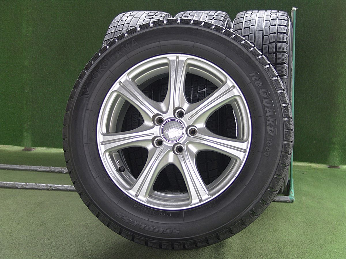 MANARAY SPORT EuroSpeed C'S シルバー YOKOHAMA iceGUARD iG20 195/65R15 4本SET