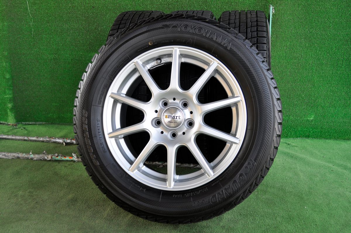 MANARAY SPORT EuroSpeed smart シルバー YOKOHAMA iceGUARD iG30 185/65R15 4本SET