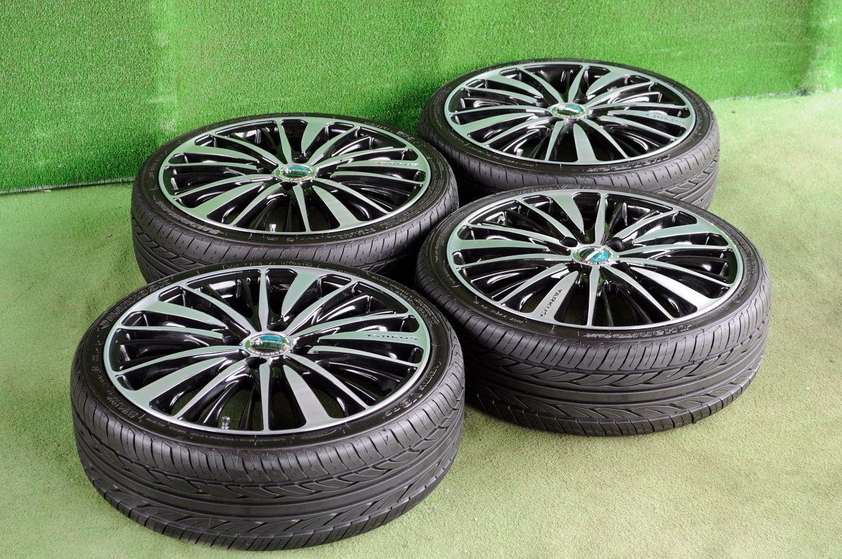 BADX LOXARNY TARKUS ブラック&ポリッシュ HANKOOK VENTUS V8 RS 165/40R16 4本SET