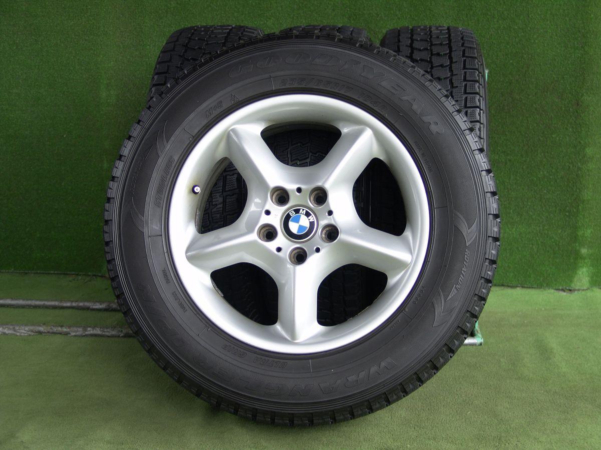 BMW X5 純正 シルバー GOODYEAR WRANGLER IP/N 235/65R17 4本SET