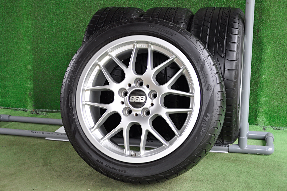 BBS RX204 シルバー BRIDGESTONE Playz PZ-1 225/45R17 4本SET