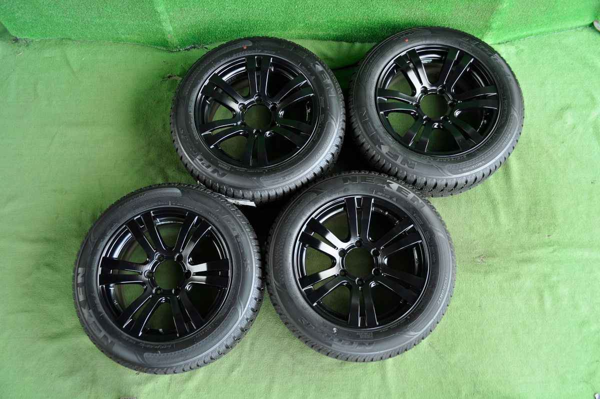 MANARAY SPORT EURODESIGN X4 High Rider マットブラック NEXEN N Priz 4S 215/60R17 4本SET