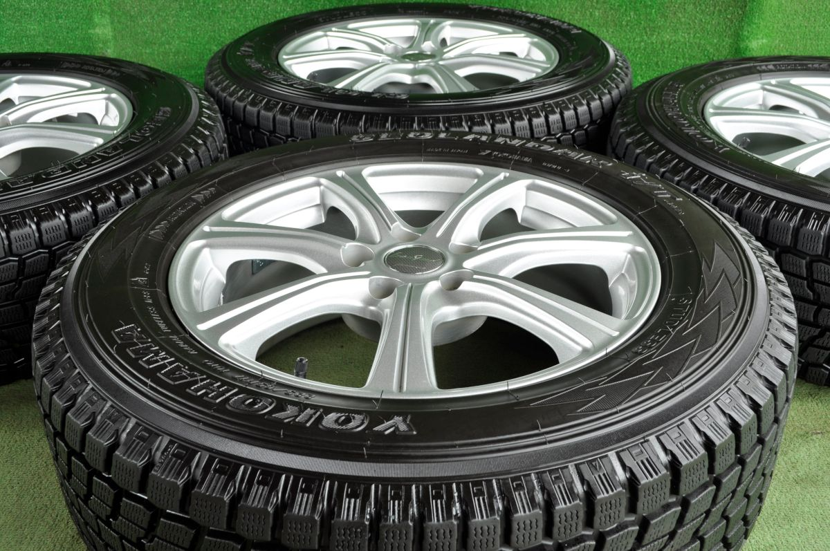 MANARAY SPORT EUROSPEED C'S シルバー YOKOHAMA GEOLANDAR i/T G-072 225/65R17 4本SET