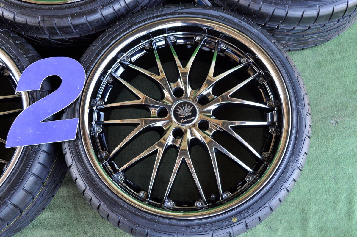 LEHRMEISTER FB10M BMC ブラックメタルコート PINSO PS-91 245/35ZR19 235/35ZR19 4本SET