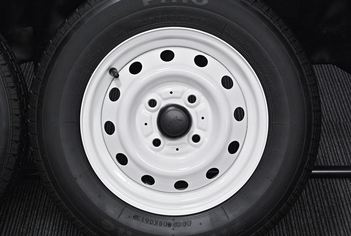 DAIHATSU エッセ 純正 ホワイト Firestone FR10 145/80R12 4本SET