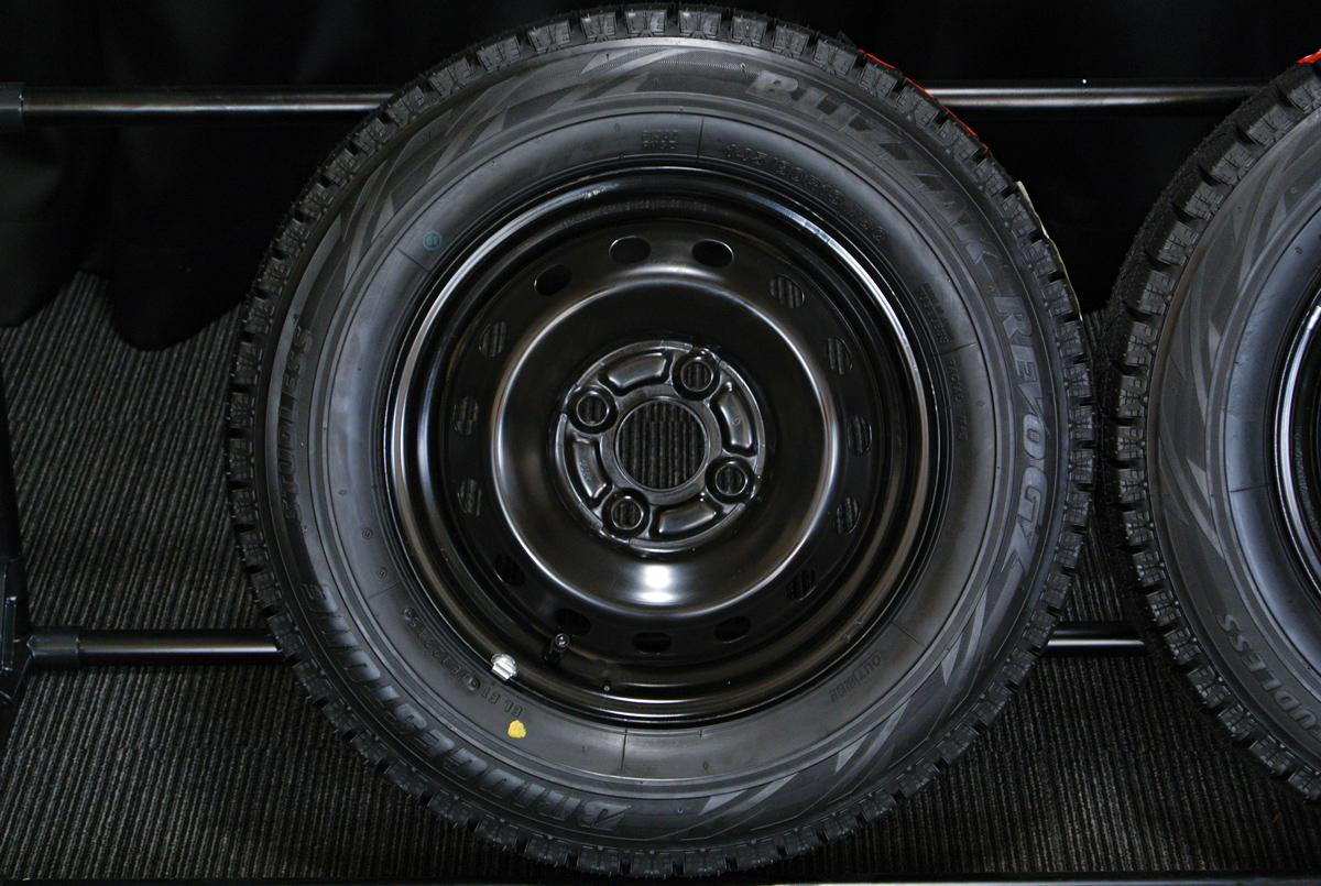 HONDA N-BOX 純正 ブラックスチール BRIDGESTONE BLIZZAK REVO-GZ 145/80R13 4本SET