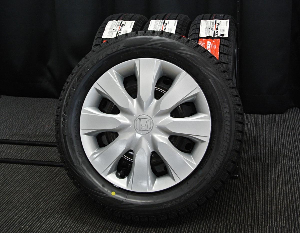 HONDA N-BOX 純正 ブラック BRIDGESTONE BLIZZAK REVO-GZ 155/65R14 4本SET