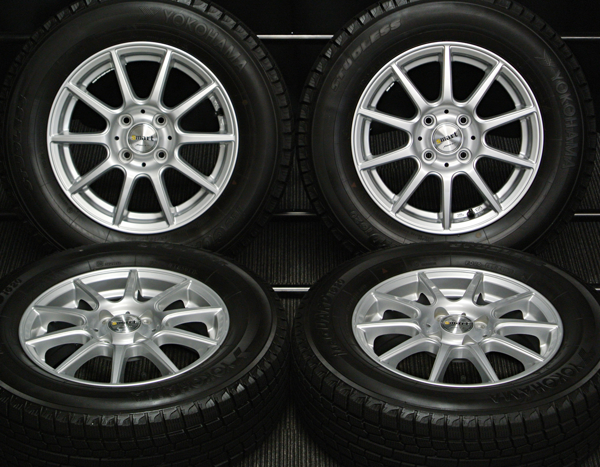 MANARAY SPORT EuroSpeed smart シルバー YOKOHAMA iceGUARD iG20 185/70R14 4本SET