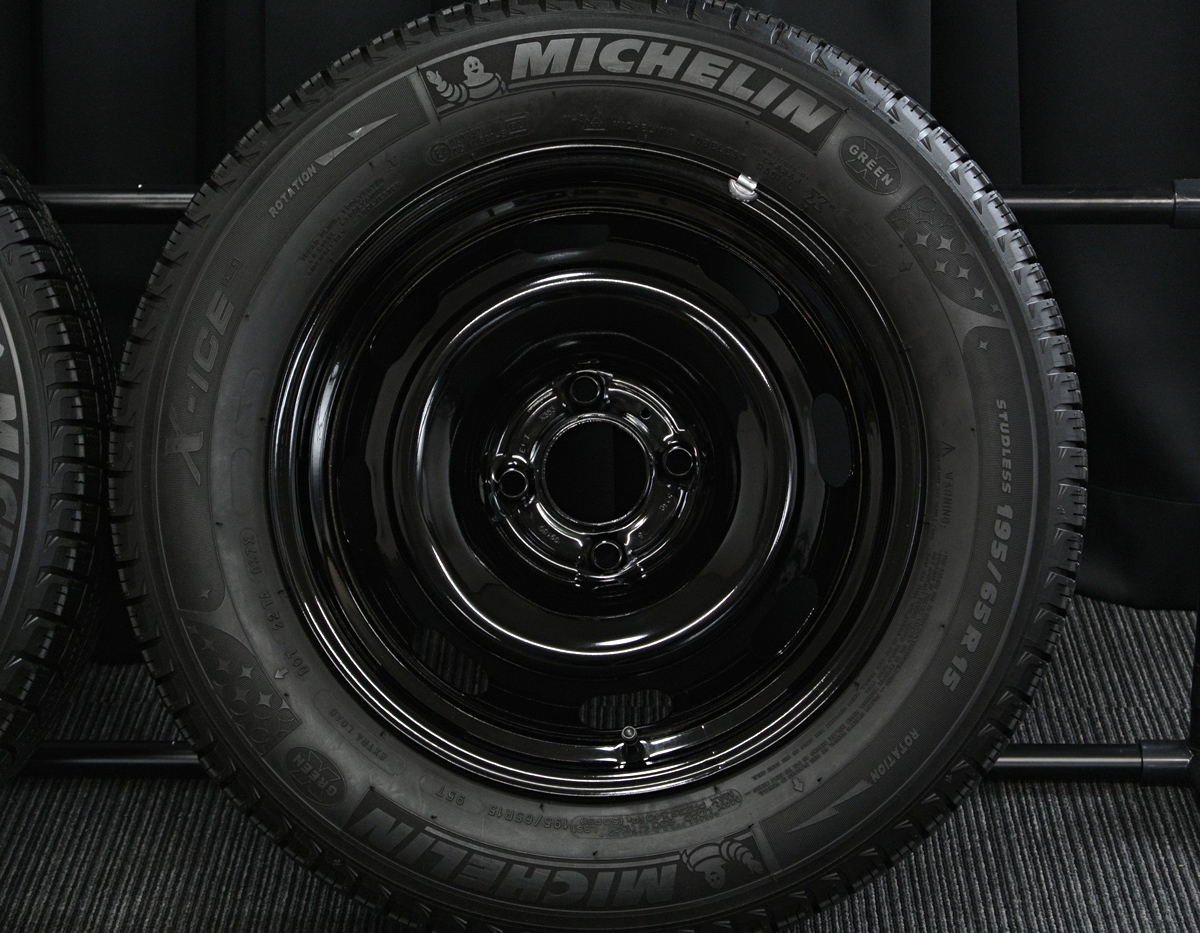 PEUGEOT 307 純正 ブラックスチール MICHELIN X-ICE XI3 195/65R15 4本SET