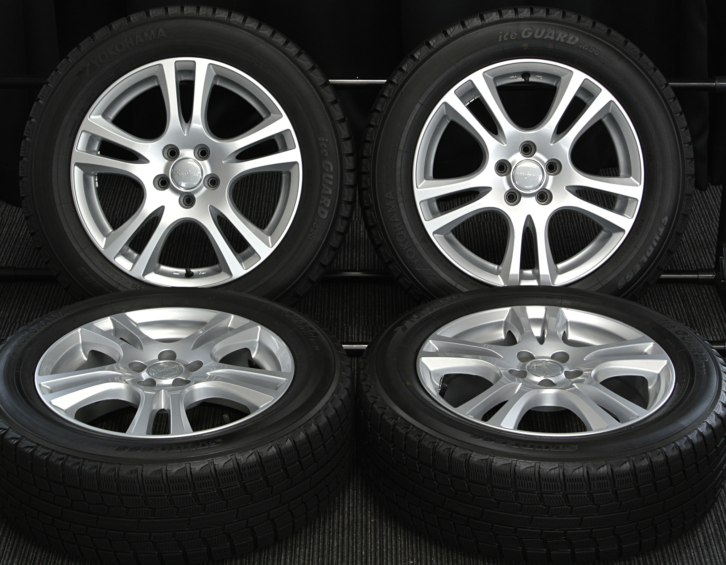 MANARAY SPORT EUROSPEED CX シルバー YOKOHAMA iceGUARD iG20 205/60R16 4本SET
