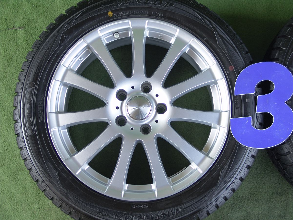 LA STRADA TIRADO α シルバー DUNLOP WINTER MAXX WM01 235/50R18 4本SET
