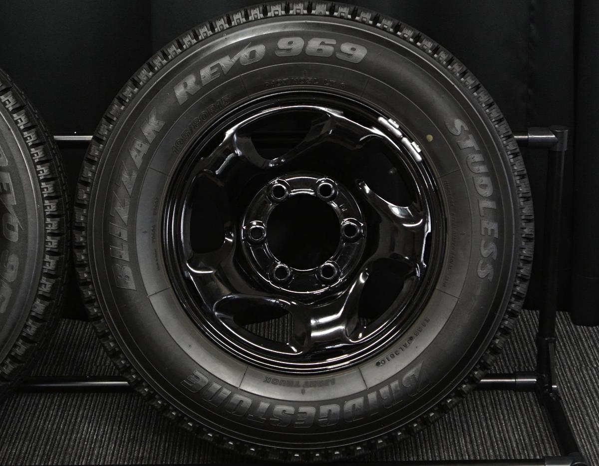 TOPY ブラック BRIDGESTONE BLIZZAK REVO969 195/80R15 107/105L LT 4本SET
