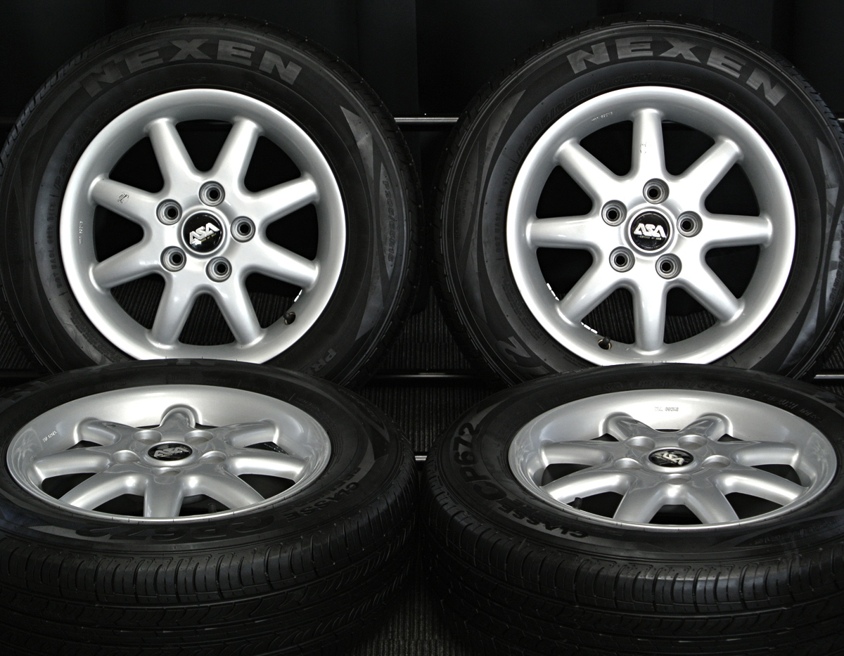 ASA LICENSED BY BBS シルバー NEXEN CP672 205/65R15 4本SET
