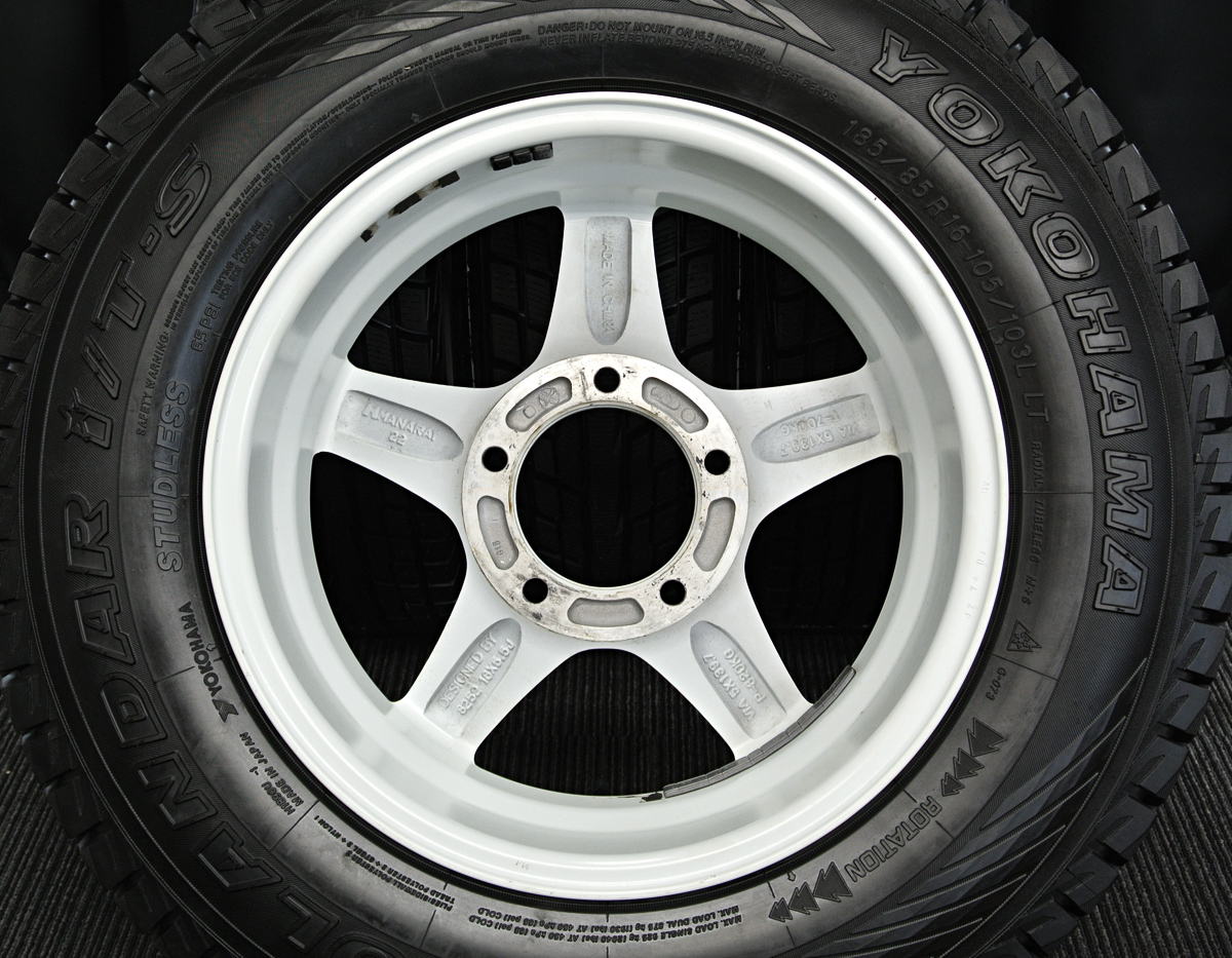MANARAY SPORT 4×4 Engineering Off Performer RT-5N ホワイト YOKOHAMA GEOLANDAR i/T-S G-073 185/85R16 105/103L LT 4本SET